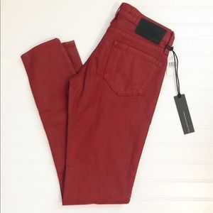 NWT Big Star Alex mid-rise Skinny Jeans in Red 26